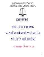 Gián án Bạo lực học đường-THCS Quang Trung, Tân phú