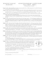Tài liệu Đề thi ĐH môn Vật lý khối A 2003 ppt