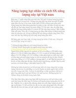 Tài liệu Năng lượng hạt nhân và cách SX năng lượng này tại Việt nam Hiện nay ppt
