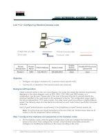 Tài liệu Lab 11.2.1 Configuring Standard Access Lists pdf