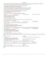 Bài tập trắc nghiệm Môn Vật liệu học (có đáp án)