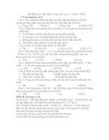 Bài soạn đề kiểm tra 1 tiết học kỳ I vật lý 9
