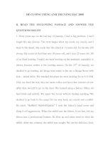 Tài liệu ĐỀ CƯƠNG TIẾNG ANH THI NÂNG BẬC 2008 Level B-2 pdf