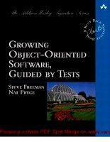 Tài liệu Growing Object-Oriented Software, Guided by Tests- P1 pptx