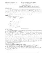 Bài soạn Đề thi học sinh giỏi Huyện môn Hóa học năm học 2010_2011