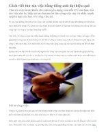 Cách viết thư xin việc bằng tiếng anh đạt hiệu quả