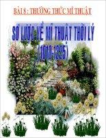 Gián án BÀI 8: SƠ LƯỢC VỀ MĨ THUẬT THỜI LÝ