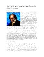 Tài liệu Nguyên tắc lãnh đạo của cha đẻ Avatar James Cameron doc