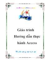 Tài liệu Hướng dẫn thực hành Access ppt