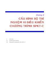 Tài liệu Chương 8: Cấu hình bộ thí nghiệm vi điều khiển chương trình SPKT-C docx