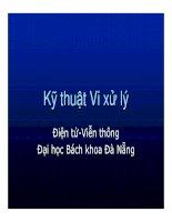 Tài liệu Bài giảng Kỹ thuật Vi xử lý P4 doc