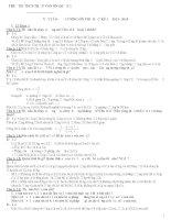 Đề cương ôn tập Vật lý 8 HK1