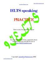 Tài liệu IELTS Speaking _ Practice docx