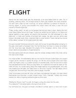 Tài liệu Flight (Tài liệu học tiếng anh) doc