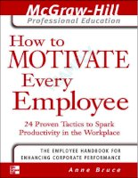 Tài liệu How to Motivate Every Employee- 24 Proven Tactics to Spark Productivity in the Workplace docx