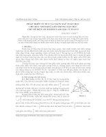 Phát triển tư duy và ngôn ngữ toán học cho học sinh khá giỏi trong dạy học chủ đề diện tích hình tam giác ở toán 5