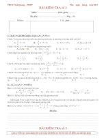 Bài soạn KT ĐS 8- Bài số 3-8b