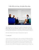 Tài liệu 5 đặc điểm của ứng viên giàu tiềm năng pptx