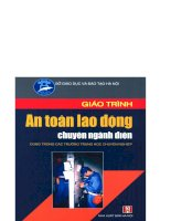 Giáo trình an toàn lao động chuyên ngành điện