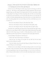 Tài liệu Chương 1: TỔNG QUAN VỀ AN TOÀN VÀ BẢO MẬT THÔNG TIN pptx