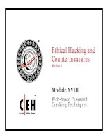 Ethical Hacking and Countermeasures v6 module 18 web based password cracking techniques