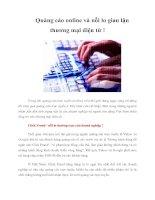 Tài liệu Quảng cáo online và nỗi lo gian lận thương mại điện tử ! doc