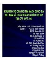 Tài liệu Khuyến cáo của hội tim mạch Quốc gia Việt Nam về chẩn đoán và điều trị suy tim: Cập nhật 2008 docx