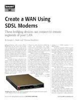 Tài liệu Create a WAN Using SDSL Modems pptx