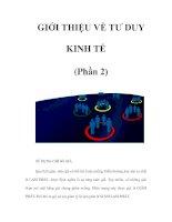 Tài liệu GIỚI THIỆU VỀ TƯ DUY KINH TẾ (Phần 2) pptx