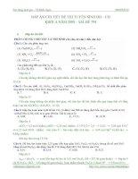 Tài liệu Hướng dẫn giải chi tiết đề thi đại học môn hóa học khối A năm 2008 docx