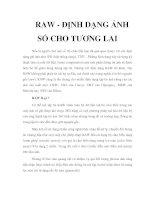 Tài liệu RAW - ĐỊNH DẠNG ẢNH SỐ CHO TƯƠNG LAI ppt