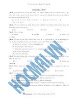 Tài liệu (Luyện thi cấp tốc Hóa) Trắc nghiệm và đáp án Hidrocacbon ppt