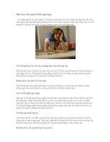 Tài liệu Mẹo hay cho người buồn ngủ ngày pptx