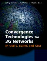 Tài liệu Convergence Technologies for 3G Networks IP, UMTS, EGPRS and ATM doc