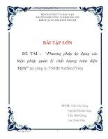 """Tài liệu Báo cáo thực tập """"Phương pháp áp dụng các biện pháp quản lý chất lượng toàn diện TQM"""" tại công ty TNHH NatSteelVina pdf"""