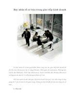 Tài liệu Bảy nhân tố cơ bản trong giao tiếp kinh doanh doc