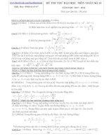 Đề thi thử đại học số 14- môn toán