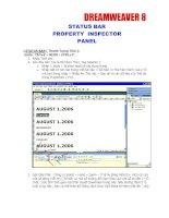 Tài liệu Dreamwaver 4 : Statu bar,property Inspector- Panel docx