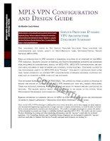 Tài liệu mpls vpn configuration and design guide pdf