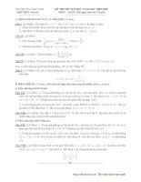 Tài liệu Thi thử ĐH môn Toán khối A_THPT Chuyên ĐH Vinh 2010 doc