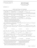 Bài soạn ĐỀ THI THỬ DH SỐ 14 CÓ DA