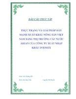 """Tài liệu Luận văn tốt nghiệp """"Thực trạng và giải pháp đẩy mạnh xuất khẩu nông sản Việt Nam sang thị trường các nước ASEAN của công ty xuất nhập khẩu INTIMEX"""" pptx"""