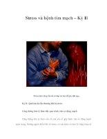 Tài liệu Stress và bệnh tim mạch – Kỳ II ppt