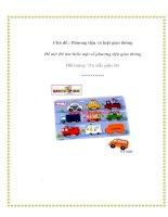 Tài liệu Chủ đề : Phương tiện và luật giao thông - Đề tài: Bé tìm hiểu một số phương tiện giao thông ppt