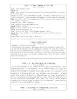 Bài soạn LISTEN UNIT 1-10