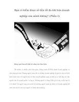 Tài liệu Bạn có kiếm được số tiền tối đa khi bán doanh nghiệp của mình không? (Phần 2) pdf