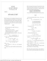 bài tập xác suất hay
