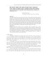 Tài liệu ĐỀ XUẤT MỘT SỐ GIẢI PHÁP QUY HOẠCH CÁC KHU Ở MỚI CỦA THÀNH PHỐ ĐÀ NẴNG pptx