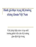 Tài liệu Đánh giá thực trạng TTCK Việt Nam docx