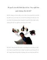 """Tài liệu Bí quyết của nhà lãnh đạo tài ba: """"Suy nghĩ bao quát nhưng vẫn chi tiết"""" pdf"""